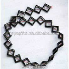 12MM Loose Hematite Rhombus Beads 16""